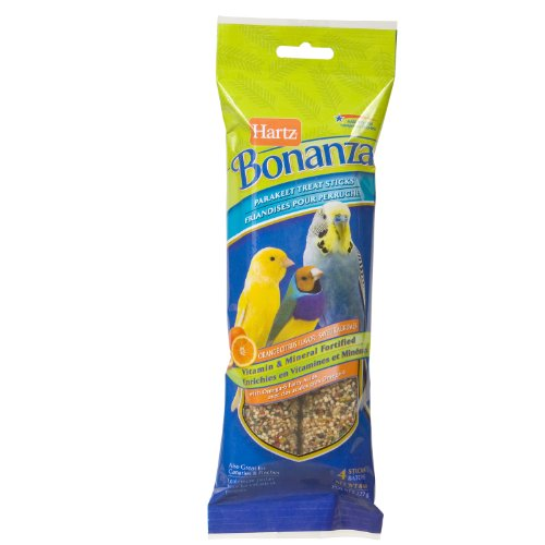 Hartz Bonanza Parakeet Treat Stick, Orange Citrus, 4-Pack, My Pet Supplies