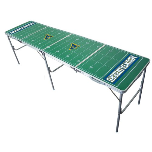 NCAA College West Virginia Mountaineers Tailgate Ping Pong Table With Net - Ncaa Tailgate Tables