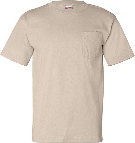 Bayside Adult Tee with Pocket, Black, XXX-Large. (Pack of 6) ()