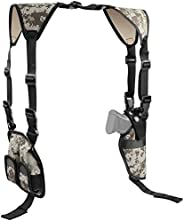 Feyachi Universal Shoulder Holster with Dual Mag Pouch Camo Ambidextrous Gun Shoulder Fits Most Pistols &