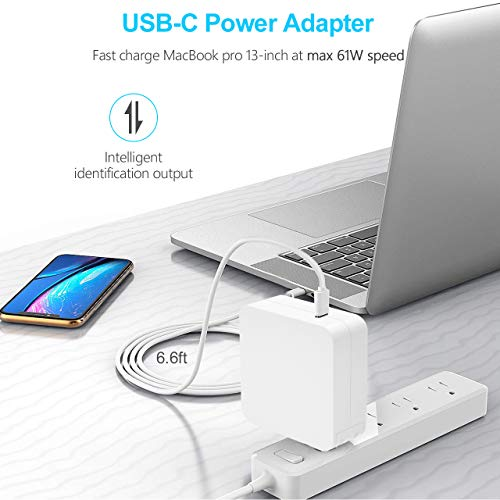 Jeestam 65W USB Type-C AC Adapter Charger Power Replacement for Apple MacBook/Dell/Xiaomi air/Huawei Matebook/HP Spectre/Thinkpad Nintendo Switch/Lenovo/Acer Type C Laptops and Phones