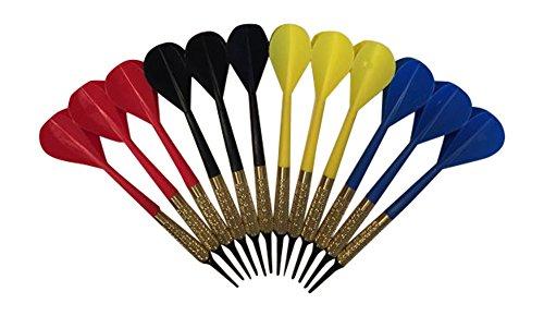 Arachnid 12 Plastic Soft Tip Darts Assorted Colors Pub Bar Darts
