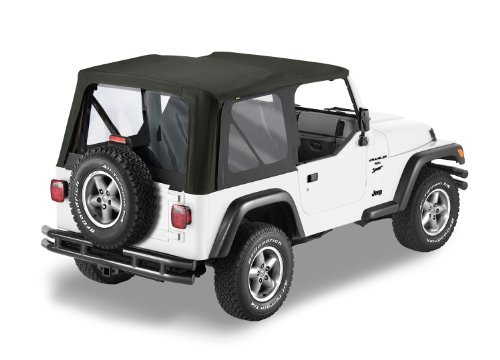 Bestop 79125-35 Black Diamond Sailcloth Replace-a-Top Soft Top with Clear Windows; no door skins included for 03-06 Wrangler TJ (except Unlimited) by Bestop