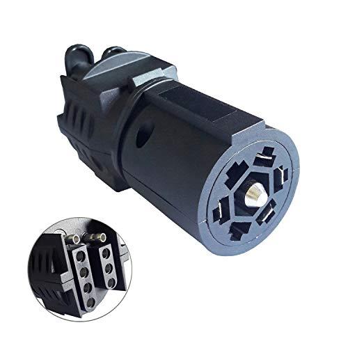 - 7 Way Blade to 5 Way Flat and 4 Way Flat Trailer Plug Adapter Connector