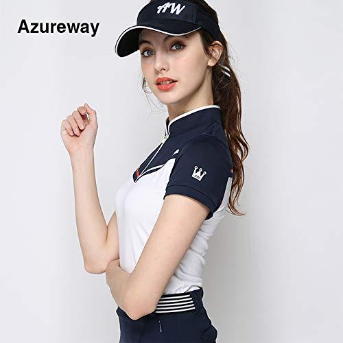 プライマーによる19台の新しいゴルフ女性の女性のゴルフバドミントンスポーツ半袖Tシャツ短いスカートスーツ   B07RYDN22C