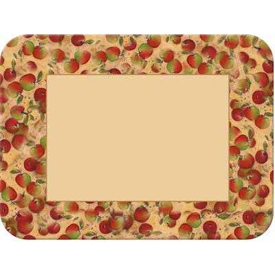 Mcgowan Tuftop Apple - Tuftop McGowan Apples Border Cutting Board, Multicolor