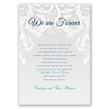Amazon Com We Are Forever Vow Renewal Invitation Health