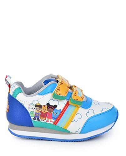 Daniel Tiger Neighborhood Kids EVA Sole Sneaker Jogger Athletic Shoes Blue/White