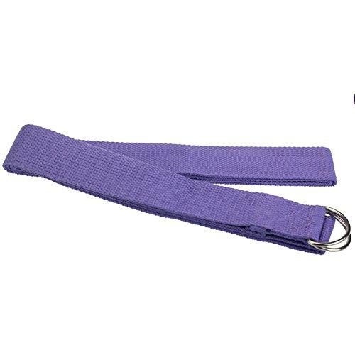 Yoga Straps Emubody 6ft Cotton Fitness Exercise Yoga Strap Yoga Belt D Ring (Light Purple, 6FT)