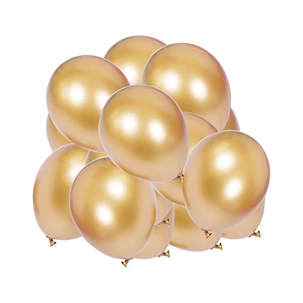 Gespout 50 Pcs Ballons Décoration de Fête pour Mariage Anniversaire Festival La Saint Valentin Salle de Mariage Objets Décoratifs 12 Pouces (Or) 1