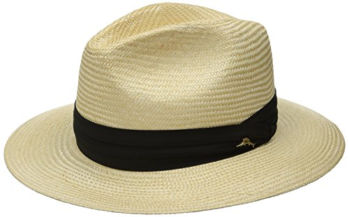 [Tommy Bahama Men's Balibuntal Straw Safari Hat, Natural, Small/Medium] (Straw Safari Hat)