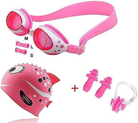 Ear Plug with HARD CASE Pool Sea Swim Sports D Silicone Swimming Set Nose Clip