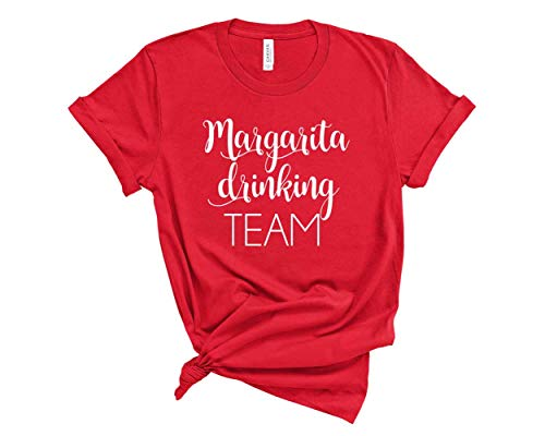 (Margarita Shirt for Women. Cinco De Mayo Shirt. Unisex T-Shirt. Drinking Shirt for Group. (Red, Small))