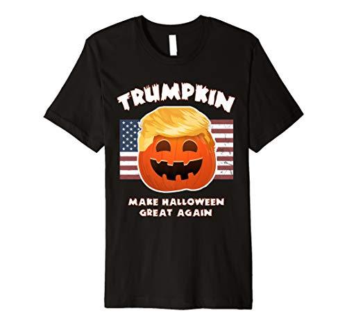 TRUMPKIN Funny Trump Pumpkin Pie Pun: USA Liberals Halloween Premium T-Shirt