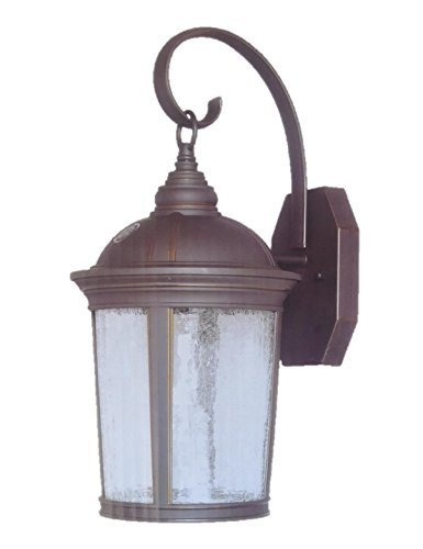 Altair Lighting Outdoor LED Lantern, 950 Lumen LED, Dusk/Dawn, With Optional Arm Kit, Aged Bronze Patina Finish - AL-2150 Patina Outdoor Fixture