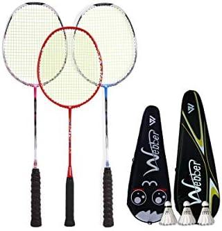 バドミントンラケット、家族セット3パックバドミントンラケット、ボールやバッグ、利用可能なさまざまな色を送信するためにバドミントンラケットを購入