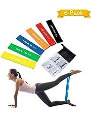 TOPELEK Elastiche Fitness, Banda Elastica Set di Ottimi 6 Bande Esercizi, Loop Resistance, Bande di Resistenza per Esercitare Braccia e Mani, Glutei, Gambe, Fitness e la Riabilitazione