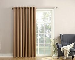 Sun Zero Barrow Energy Efficient Patio Door Curtain Panel, 100\