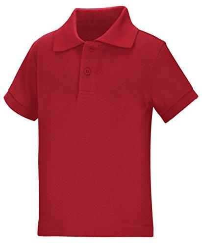 Classroom Little Boys' Toddler Uniform Pique Polo, Red, 3T