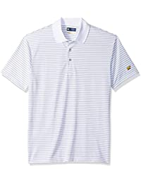 Men's Horizontal Striped Short Sleeve Polo Shirt