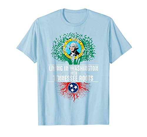- Washington Home Tennessee Roots State Tree Flag Shirt Gift