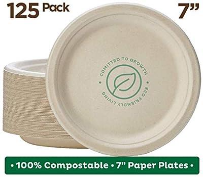 Stack Man Natural Disposable Bagasse, Eco-Friendly Made of Sugar Cane Fibers