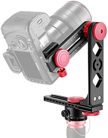 Neewer Professional Panoramic Gimbal Camera Tripod Ball Head,Include 360 Degree Swivel Panoramic Indexing Rotator,2 Way Rail Slider,L Bracket for Tripod,DSLR Cameras,Load Up to 6.6 pounds//3 kilograms