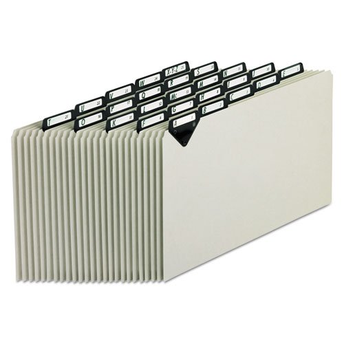 Steel Top Tab Recycled Guides, Alpha, 1/5 Tab, Pressboard, Legal, 25/Set, Sold as 25 Each
