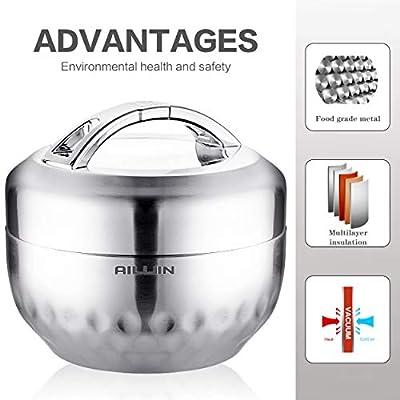Amazon.com: AILIJIN - Fiambrera térmica aislada al vacío de ...