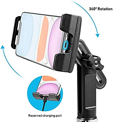 LUXMO PREMIUM 2-in-1 Car Cup Holder Mount for Tables and Phones,Universal Adjustable Portable Car Cup Phone Holder Cradle Car Mount for iPhones//iPad//Android Phones /& Tablet 4.7 to 12.9,Black