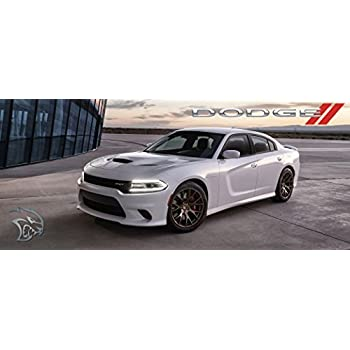 Amazon Com 2016 Dodge Charger Hellcat Poster Red Black Srt Mopar