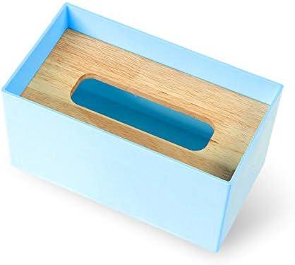 luckyNO.1 Caja de Pañuelos Nordic Simple Caja de Dibujo Macarons Roble Creativo Hogar Sala Comedor Coche Azul Grande: Amazon.es: Hogar