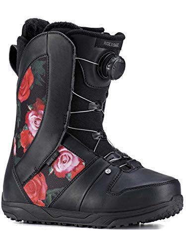 Ride Sage Boa Coiler Womens Snowboard Boots 2019-7.5/Black Rose (Best Womens Snowboard Boots 2019)