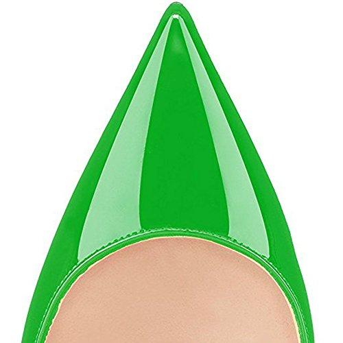 Verde Su Comfity Punta A Pompe Sexy Tacchi Donne Vestito Donne Punta Gattino Per Ufficio Scarpe Delle Slittamento A Le CT1T8xwqd