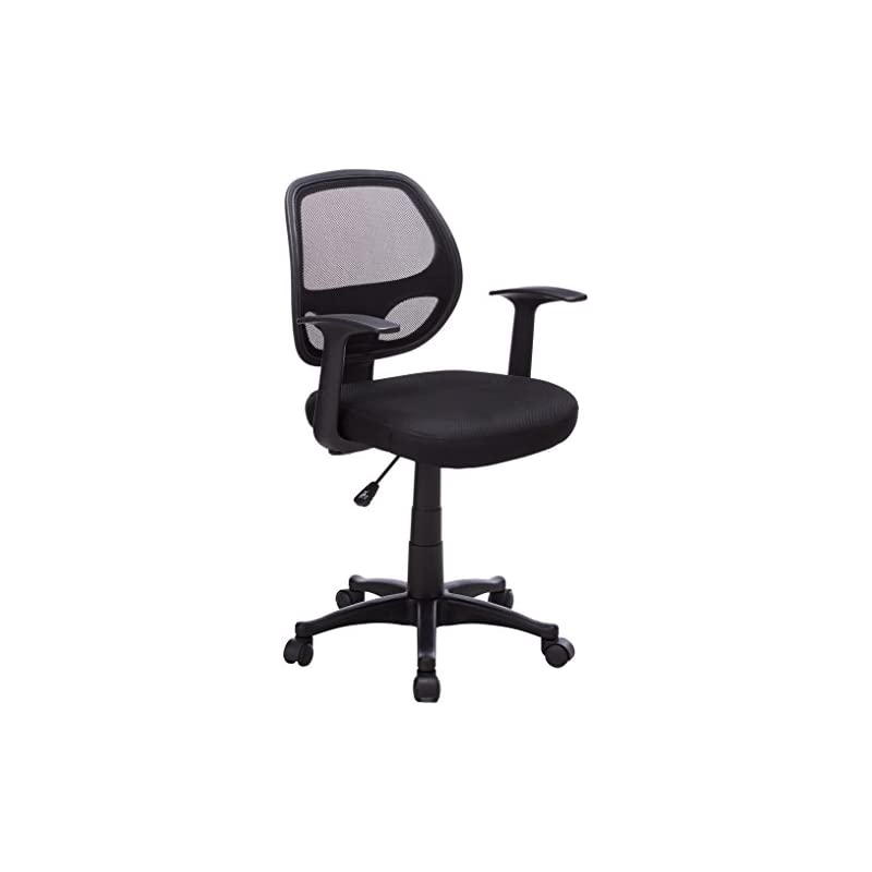 Flash Furniture Mid-Back Black Mesh Swiv