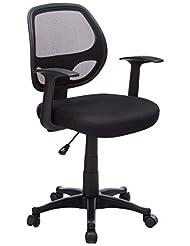 Flash Furniture Mid-Back Black Mesh Swivel Task Chair with Ar...