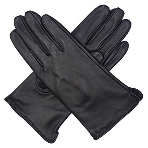Harssidanzar Womens and Kids Lambskin Leather Winter Outdoor Mittens Thermolite Lined