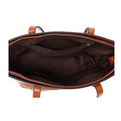 SXELODIE para al Hombro marrón Gris Bolso marrón Mujer H6q6tPTx