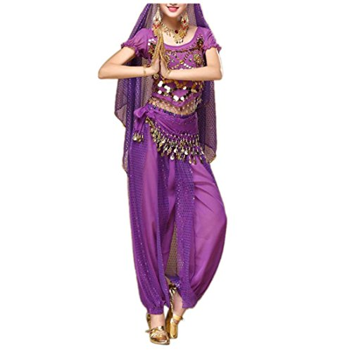 Supplies Belly Dance Making Costume (Amiley Summer Beach Belly Dance Outfit Costume India Dance Clothes Top+Pants)