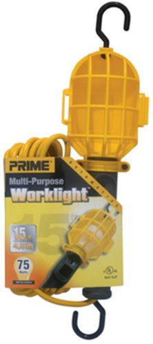 Prime TL090515 15-Feet 18/2 SJT Plastic Guard Work Light