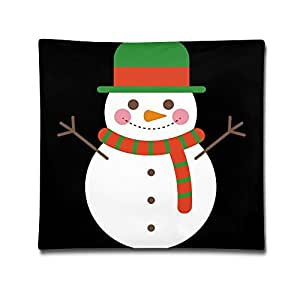 Snowman Comfortable Soft Pillow Bed Pillow Household Pillow Office Pillow Bolster 18*18 Inches