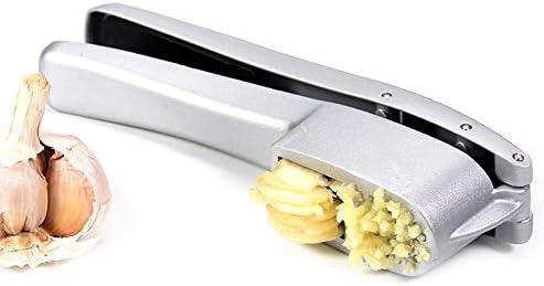 ZW Knoblauchpresse, 2 in 1 Aluminium-Knoblauch-Ingwer-Fleischwolf und Slicer mit Slicing und Grinding Küche, das Werkzeug
