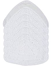 6Pcs Microfiber Mop Pad for Vileda/O-cedar Steam Cleaner Mops Washable Replacement Steam Mop Cloth Pads Reusable Steam Cleaner Replacement Cleaning Cover (White)