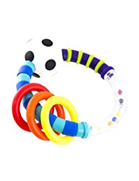 Sassy Rattlin Rings, Blue/Black BOBEBE Online Baby Store From New York to Miami and Los Angeles