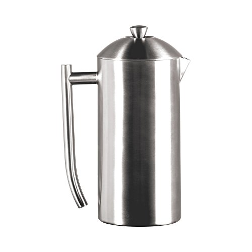 Frieling USA Double Wall Stainless Steel French Press Coffee Maker with Patented Dual Screen in Frustration Free Packaging, Brushed, - Stainless Frieling Carafe Steel
