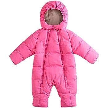 Color:Pink Mosaic Snozu Weatherproof Fleece Lined Hooded Snowsuit Baby Girls