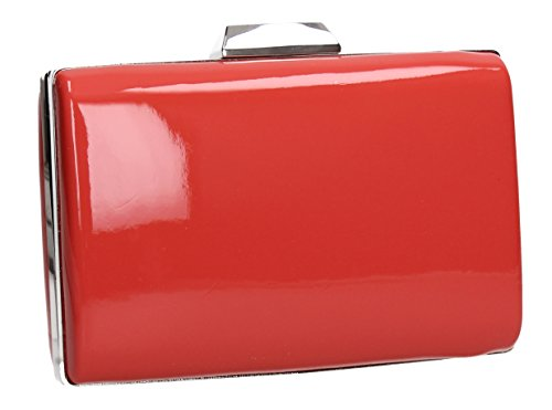 Bag SWANKYSWANS Party Patent Leather Red Clutch Ladies Oregon Box Prom Womens zSrTzw