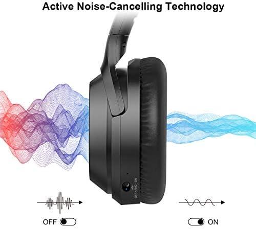 bassi profondi ad alta fedelt/à e ANC con microfono CVC 8.0 Nero gorsun Cuffie senza fili Bluetooth 5.0 sullorecchio con 55 ore di riproduzione