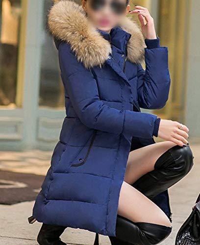 Styles Facile Young Doudoune Manteau Femme Longues Fourrure avec Fermeture avec Hiver Chaud Capuchon f0vzqv