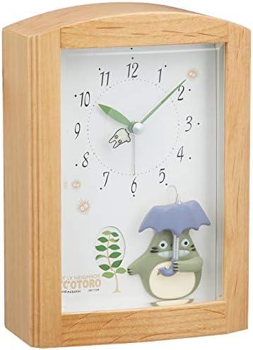 となりのトトロ 目覚まし時計 オルゴールメロディ付き ブラウン リズム時計 R752N 4RM752MN06